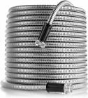 Stainless Steel Metal Garden Hose Water Tube 25/50/75/100FT Flexible Lightweight