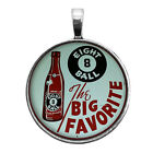 Old Eight Ball Soda Sign Image Key Ring Necklace Cufflink Tie Clip Ring Earrings $12.95 USD on eBay