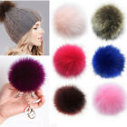 Women Faux Raccoon Fur Pom Ball For Diy Knitting Beanie Hats Accessories-hl