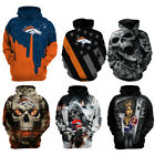 Denver Broncos Hoodie Football Hooded Sweatshirt Sports Jacket Gift for Fans $29.44 USD on eBay