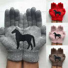 Women's Warm All Fingers Cute Animal Print Outdoor Couple  Girlfriends Gloves