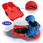 S,XL Plastic Snow Sled Boat Board Sledge Skiing Toboggan Toddler Kid Child Adult