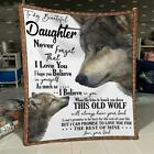 Wolf To My Beautiful Daughter Never Forget That I Love You Sherpa Blanket