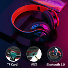 Wireless 5.0 Bluetooth Headphones Foldable Stereo Earphones Super Bass Headset A