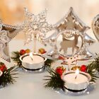 Christmas Home Decor Red Pine Core Wedding Candle Holder Craft Mini Party Table