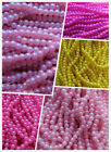 3 Long String Faux Pearl Beads. 5 & 6mm 5 Colours. Jewellery & Craft Making. UK