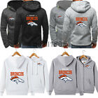 Denver Broncos Hoodie Football Hooded Sweatshirt Fleece Jacket Gift for Fans $23.74 USD on eBay