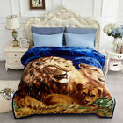 2 Ply Animal Thick Heavy Winter Warm Soft Mink Queen King Size Blanket