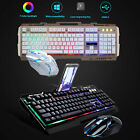 Rainbow Gaming Backlight LED Waterproof Mechanical Keyboard and Mouse Combo Set