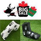 Golf Putter Cover Waterproof PU Leather Skull Club Mallet Head Covers White 1PC