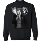 Men's Joaquin Phoenix Oakland Raiders Joker smoking NFL Black T-shirt S-5XL NEW $9.11 USD on eBay