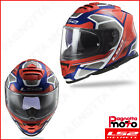 CASCO INTEGRALE FULL FACE LS2 DOPPIA VISIERA STORM FF800 FASTER RED BLUE ROSSO B