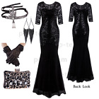 Long Retro 1920s Flapper Beads Gatsby Wedding Evening Party Dresses Formal Gowns