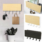 Wooden Wall Mounted Hooks Rack Key Holder Wall Hook Storage Rack Home Decor
