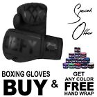 Kyпить New Boxing Gloves Leather Training Sparring Punch MMA Kick Boxing UFC Black на еВаy.соm