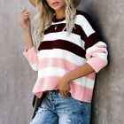 Women Jumper Casual Pullover Lady Comfort Breathable Sweater Round Neck Tops