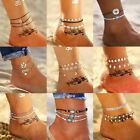 Women Natural Cowrie Beads Shell Anklet Bracelet Handmade Beach Foot Jewelry image