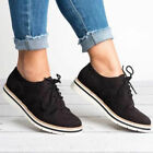 Women's Sneakers Casual Office Oxford Breathable Trainers Lace Up Brogue Shoes