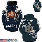 US STOCK Dallas Cowboys Sport Hoodie Sweatshirt Jumper Jacket Hooded Coat Tops $16.99 USD on eBay