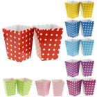 12pcs Polka Dots Popcorn Boxes Containers Paper Popcorn Bags Pack of 12