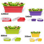 Portable Silicone Lunch Box Bowl Bento Picnic Camp Collapsible Food Storage