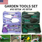 5/10pcs Garden Tools Garden Gardening Hand Tool Kit Sets Portable Carrying Case