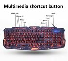 Wired Gaming keyboard and mouse Russian Keyboard Mouse Combos lighting cap Metal