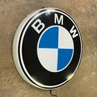 BMW BADGE LED ILLUMINATED WALL LIGHT SIGN GARAGE GAS  OIL AUTOMOBILIA M POWER