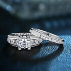 Bridal Wedding Engagement Ring Set For Women Round Cz 925 Sterling Silver 5-10
