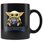 New England PATRIOTS Baby Yoda Star Wars Cute Yoda PATRIOTS Fun Yoda Coffee Mug $13.99 USD on eBay