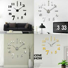 DIY 3D Large Wall Clock Analog Huge Roman Sticker Home office Decoration kitchen