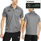 PUMA MAMGP Men's Mercedes AMG Petronas Grey Polo Shirt