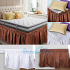 """15"""" Bed Dust Ruffle Skirt Queen King Twin Full Size Wrap Around Elastic 2 Colors image"""