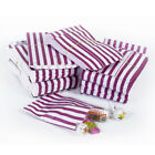 Purple Candy Stripe Sweet Paper Bags Buffet Gift Party Bags Wedding Cake Bag