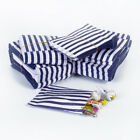 Blue Candy Stripe Sweet Paper Bags Sweet Buffet Gift Party Bags Wedding Cake Bag