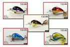 "Pack of 5 Akuna Little Rattler 2.3"" Shallow Diving Crankbait Bass Fishing Lures"