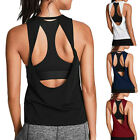 Women Activewear Come-hither Open Back Yoga Shirt Workout Sports Gym Tank Tops Vest Top