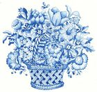 Blue Delft Flower Basket Select-A-Size Waterslide Ceramic Decals Xx image