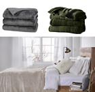Heated Electric Ultra Soft Cozy Microplush Blanket Twin Full Queen King Home New image