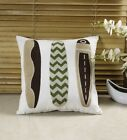Chezmoi Collection Tropical Beach Home Decor Embroidery Pillow/Cushion Cover