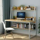 47/55'' Home Office Desk with Hutch&Bookshelf Modern Computer Table Writing Desk