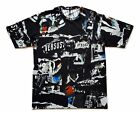 VERSACE men's short sleeve t-shirt with fancy print BU90465 B7008VRS U black