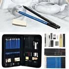 32/42pc Professional Sketching Drawing Art Pencil Kit Artists Graphite Charcoal