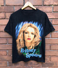 Vintage 90s Britney Spears R&B Music Rapper Black T-Shirt All Size S-234XL A214 image