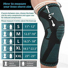 Knee Sleeve Compression Brace Joint Support Arthritis and pain relief USA Seller