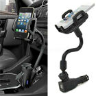 Dual 2 USB Ports Car Cigarette Lighter Charger Mount Holder For Cell Phone ! S