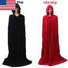 Medieval Velvet Hooded Cloak Halloween Cosplay Costume One Size USA Ship