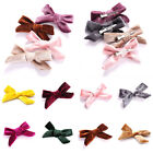 Kids Soft Velvet Bow Hairpins Solid Cross Knot Hair Clip Girls Hair Accessories