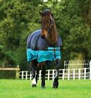 Horseware Mio Summer Lightweight Horse Turnout Rug 0g in Black/Turquoise