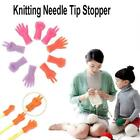 6pcs/set Knitting Needles Point Protector Needle Tip Tool Weave Sew Stopper G9f6